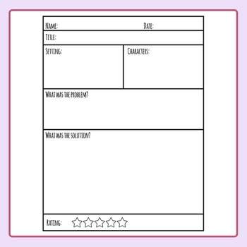 Book Report Templates Worksheet Layouts Clip Art Set for Commercial Use