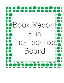 Book Report Tic-Tac-Toe