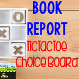 Book Report TicTacToe Choice Board