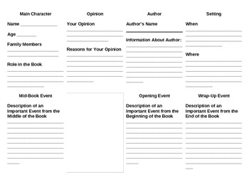 Book Report Trading Cards