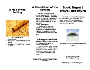 book report travel brochure by middle school minds tpt