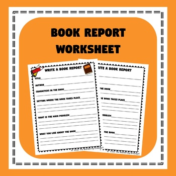 Book Report Worksheet By The Wandering Schoolgirl Tpt