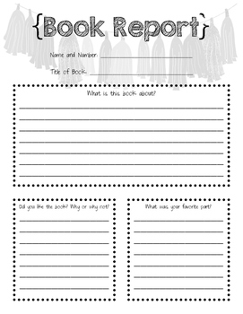 Book Report Worksheet and Personal Recording Sheet