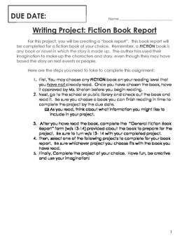 Book Report Writing Project