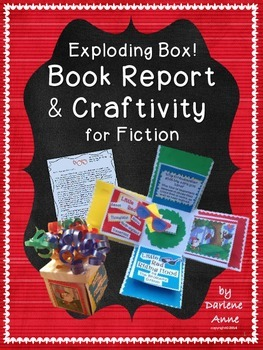 BOOK REPORT AND CRAFTIVITY FOR INDEPENDENT FICTION READING: EXPLODING GIFT!