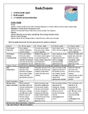 Book Report and Projects with Rubric