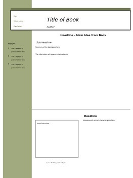 Book Report eZine Template