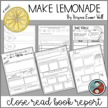 Book Report for Make Lemonade by Virginia Euwer Wolff