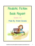 Book Report for Realistic Fiction Book with ELA CCSS