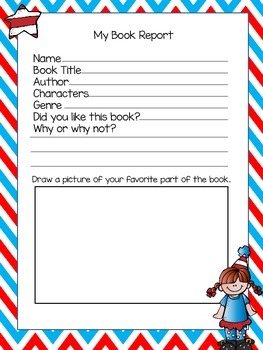 Book Report for the older elementary grades
