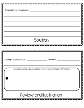 Book Report or Story Elements Templates-Flipbook, Newspaper, Postcard