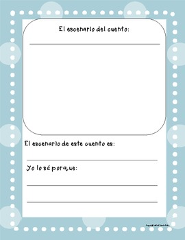 Book Report- story elements in Spanish