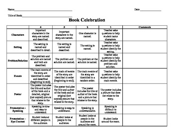 Report writing service year 3 rubric
