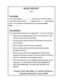 Book Report:Diary Entries & Rubric