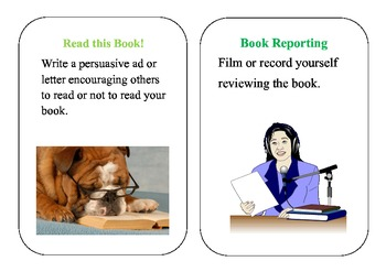 Book Report/ Reading Response Cards