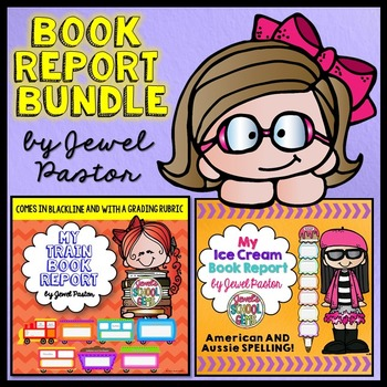 Creative Book Reports BUNDLE (Train and Ice Cream Template