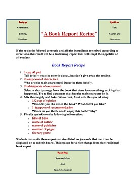 Book Reports/Book Projects Bundle #1