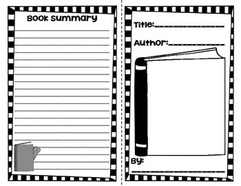 Book Reports Booklets