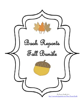 Book Reports - Fall Bundle