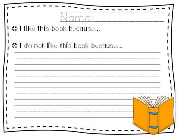 Book Reports Freebie
