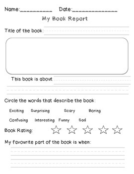 Book Reports - Literacy Center