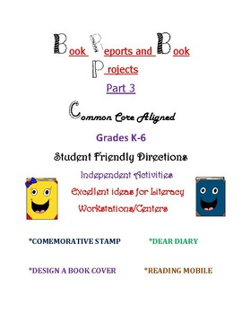 Book Reports and Book Projects - Part 3