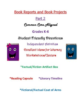 Book Reports and Book Projects - Part 2