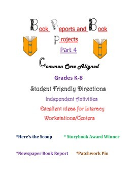 Book Reports and Book Projects - Part 4