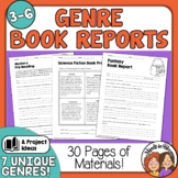 Book Reports with Project Choice Boards for 7 Genres Distance Learning