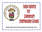 Book Reports for Elementary Intermediate Students