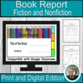 Book Reports for Google Classroom, Book Reports Templates