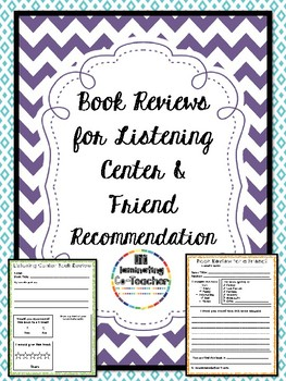 Book Reports for Listening Center & Recomendation for a Friend