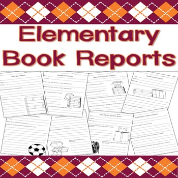 Elementary Book Reports - 15 Different Reports!