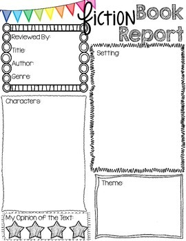 Book Reports for any Book - Fiction and Non-Fiction