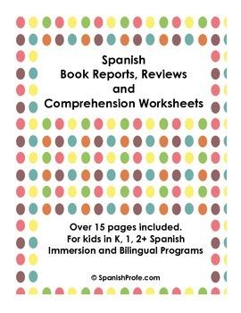 Book Reports in Spanish/Mapas del cuento (Hojas de Compresion de historias)