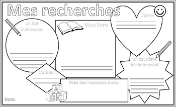 Book Research Primary French