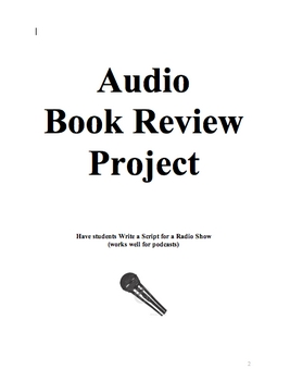 Book Response Audio or Podcast Project