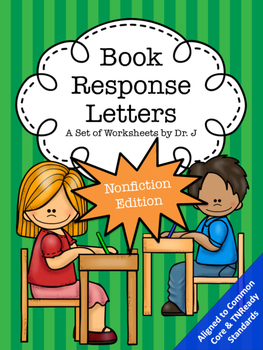 Book Response Letters Nonfiction Reading Response Common Core TNReady Aligned