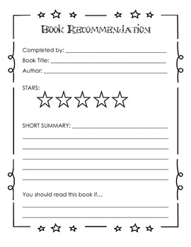 Book Response Packet