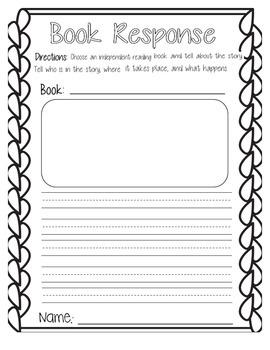 Book Response Sheet