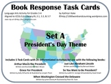 Book Response Task Cards: President's Day
