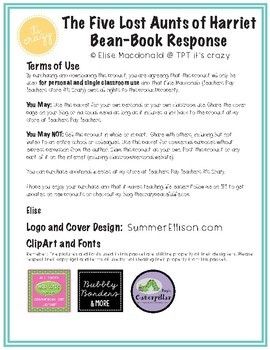 Book Response-The Five Lost Aunts of Harriet Bean