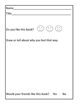 Book Response/Review Level 1