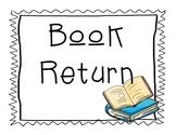 Book Return FREEBIE