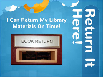 Book Return Sign for Personalized Library Program