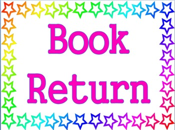 Stars Theme - Book Return Poster
