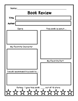 Book Review 10 Star Rating Opinion Book Report