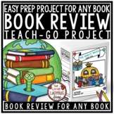 Book Review - Cereal Box Book Report Template Literature Circles Activities