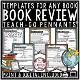 Book Review Template & Reading Graphic Organizers • Teach- Go Pennants™