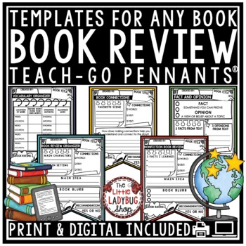 Book Review Template & Reading Graphic Organizers Book Report Templates